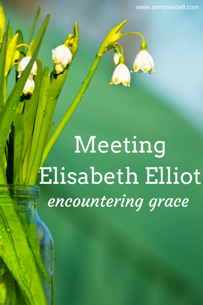 Meeting Elisabeth Elliot-Grace Unfolded