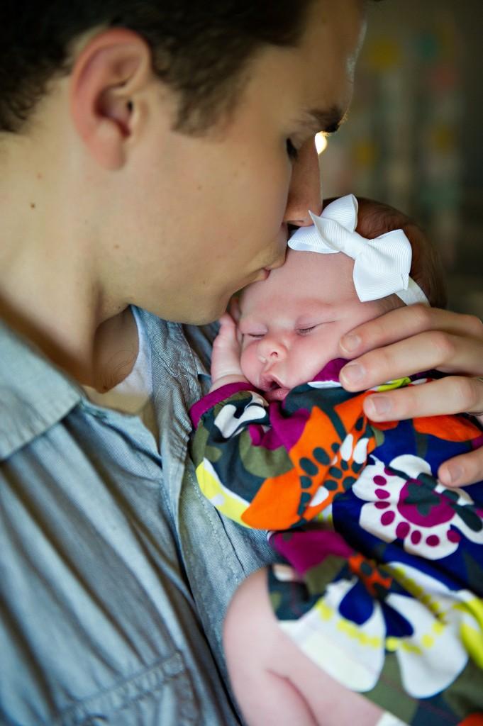 Newborn Ella and Daddy