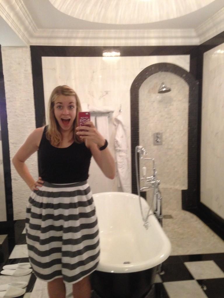 london hotel upgrade bathroom