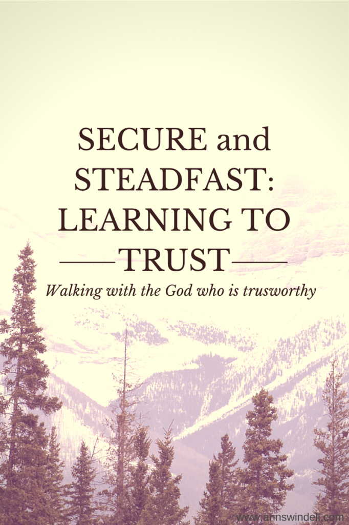 SECURE and STEADFAST-LEARNING TO TRUST