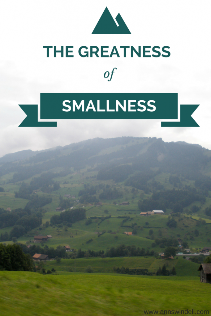 True greatness comes from smallness before God and people