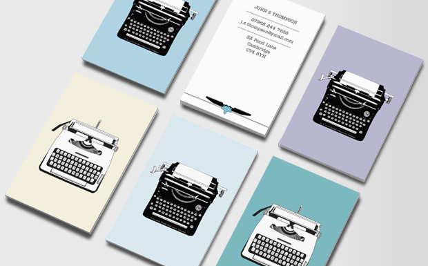 Writer business cards in the Writers Gift Guide 2016 at www.annswindell.com