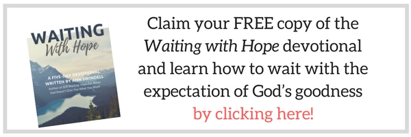 Waiting with Hope Devotional by Ann Swindell www.annswindell.com